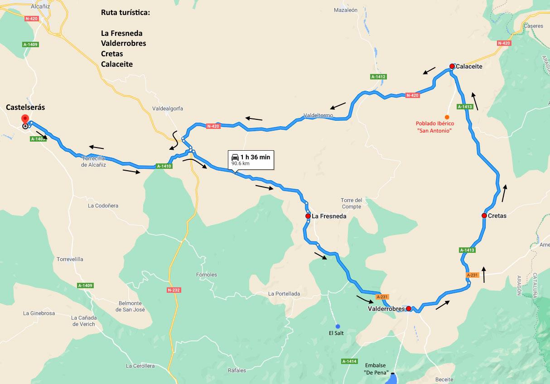 Ruta La Fresneda, Valderrobres, Cretas y Calaceite