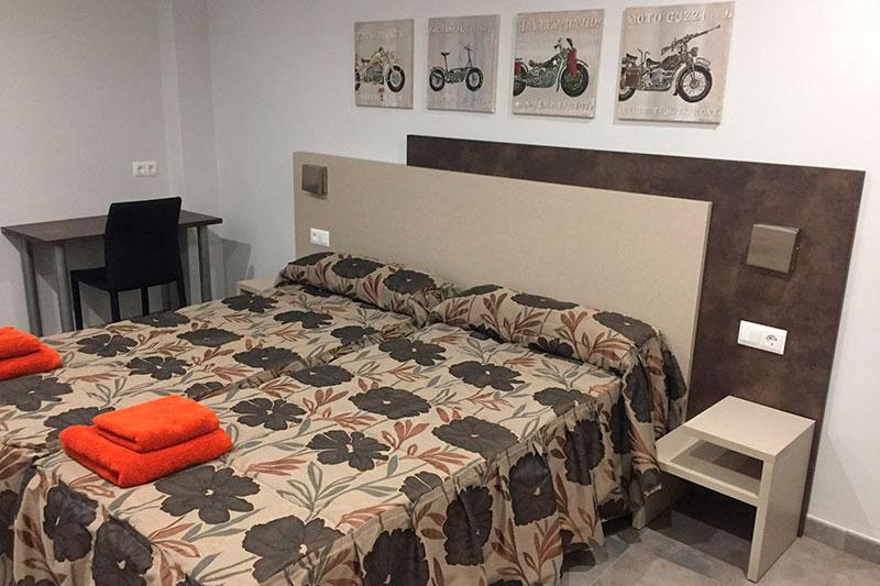 Habitación apartamento bielas y pistones